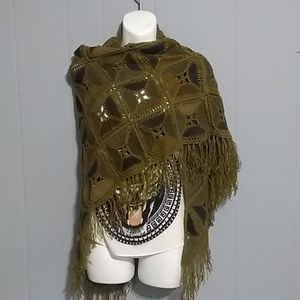 Leather style wrap/shawls lightweight